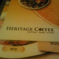 Photo taken at Heritage Coffee by YShyan on 8/29/2011