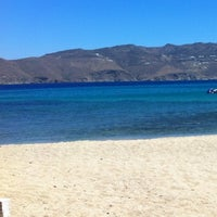 Photo taken at Panormos Beach by Hara G. on 7/16/2012
