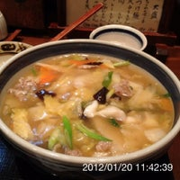 Photo taken at うどん棒 大阪本店 by T S. on 1/20/2012
