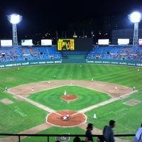 Photo taken at Sajik Baseball Stadium by 슬프도록 아름다운 자유로운 영혼 경. on 9/7/2012