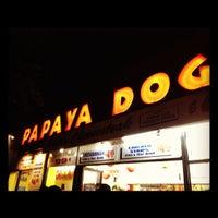 Photo taken at Papaya Dog by Darren M. on 7/18/2012