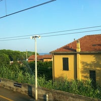 Photo taken at Stazione Cervo - San Bartolomeo by Enrico M. on 7/26/2012
