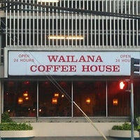 Photo taken at Wailana Coffee House by Calvin D. on 8/23/2011