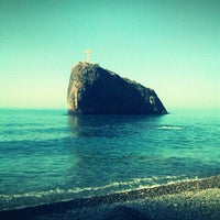 Photo taken at Пляж Фиолент by Сестра Х. on 7/10/2012