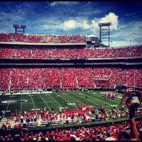 Photo taken at Sanford Stadium by Renee R. on 9/1/2012