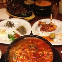 Photo taken at Dolsot House | K-Town BBQ Korean Restaurant by Meiju Q. on 10/17/2011