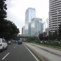 Photo taken at Jalan Jenderal Sudirman by Grace S. on 4/23/2012