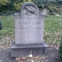 Photo taken at Grave of Edgar Allan Poe by Michael D. on 11/26/2011