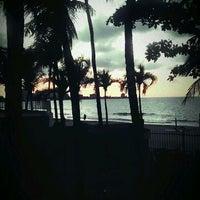 Photo taken at Isla Verde Beach - Balneario Isla Verde (La Playa) by Danielle P. on 4/18/2012
