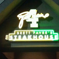 Photo taken at Brett Favre's Hall of Fame Chophouse by Brian A. on 8/31/2012