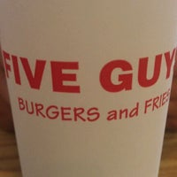 Photo taken at Five Guys by Nicole W. on 9/14/2011