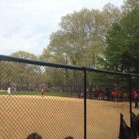 Photo taken at Heckscher Field by Dana Storm S. on 4/15/2012