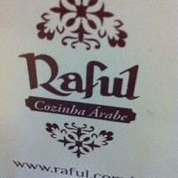 Photo taken at Raful Cozinha Árabe by Karina L. on 5/8/2012
