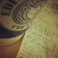 Photo taken at EDIYA COFFEE by Bongjun H. on 6/12/2012