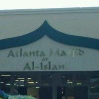 Photo taken at Atlanta Masjid Of Al-Islam by Wallead L. on 8/21/2012