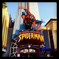 Photo taken at The Amazing Adventures of Spider-Man by Ted J B. on 3/8/2012