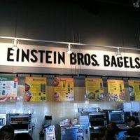 Photo taken at Einstein Bros Bagels by Kevin C. on 2/21/2012