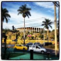 Photo taken at Estádio Jornalista Felipe Drummond (Mineirinho) by Italo S. on 7/7/2012