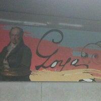 Photo taken at Estación de Goya by Miriam G. on 8/22/2012