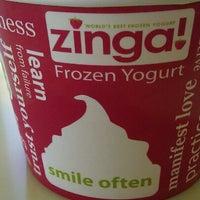 Photo taken at Zinga Frozen Yogurt by Beth K. on 7/26/2012