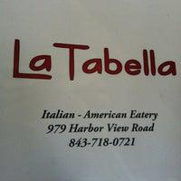 Photo taken at La Tabella by King Street Studios P. on 3/12/2012