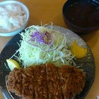 Photo taken at とんかつ 玉藤 清田店 by Nobuo O. on 3/12/2012