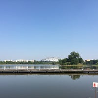 Photo taken at 大学城中心湖 by Sanq L. on 10/18/2015