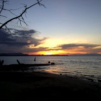 Photo taken at Santubong Beach by Lee G. on 11/18/2012
