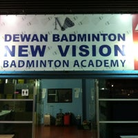 Photo taken at New Vision Badminton Academy by Kah Hoe L. on 11/21/2012