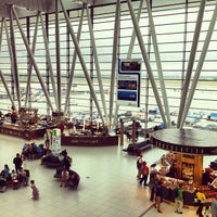 Photo taken at Budapest Liszt Ferenc International Airport (BUD) by Jackie W. on 6/27/2013