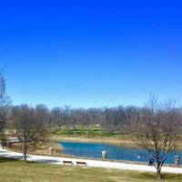Photo taken at Druid Hill Park Lake Loop by Kelley S. on 3/30/2015