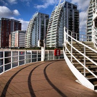 Photo taken at Salford Quays by Steven P. on 2/21/2013