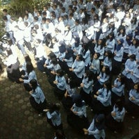 Photo taken at SMP Negeri 11 Bandung by Gema B. on 2/8/2013