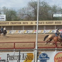 Photo taken at Prescott Rodeo Grounds by Chelsea S. on 5/12/2013