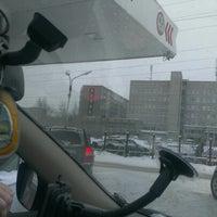 Photo taken at Лукойл АЗС №475 by Татьяна К. on 1/6/2013