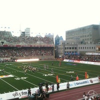 Photo taken at Percival Molson Memorial Stadium by Michael H. on 7/5/2013