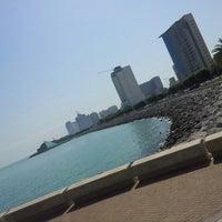 Photo taken at Marina Beach by Abdullah F. on 5/9/2013