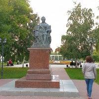 Photo taken at Памятник Екатерине II by Arkadiy V. on 9/22/2013