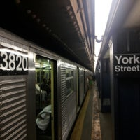 Photo taken at MTA Subway - York St (F) by Mikey K. on 7/9/2017