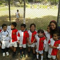 Photo taken at Pumitas C.U., Futbol A.C. by Ale C. on 12/8/2012