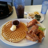 Photo taken at Home of Chicken and Waffles by Jim S. on 3/17/2013