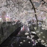 Photo taken at Meguro Bridge by Eiji S. on 3/27/2018