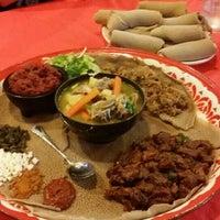 Photo taken at Awash Ethiopian Restaurant by Chow B. on 7/24/2015