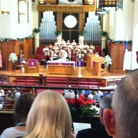 Photo taken at First United Methodist Church by Sarah R. on 12/2/2012