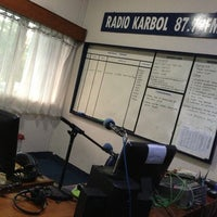 Photo taken at Radio Karbol by Muhamad J. on 9/18/2013