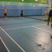 Photo taken at Lapangan Badminton by yogga p. on 1/10/2013