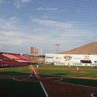 Photo taken at Estadio Gasmart by Miguel M. on 6/30/2013