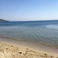 Photo taken at sare beach by Ayşenur T. on 8/26/2013