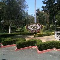 Photo taken at Parque Luis G. Urbina (Parque Hundido) by Angie F. on 4/2/2013