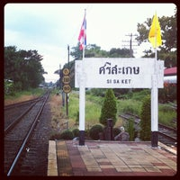 Photo taken at Sisaket Railway Station (SRT2273) by Wasin I. on 5/10/2013